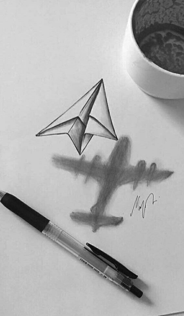 Paper Plane: Cool and Easy Things to Draw when bored