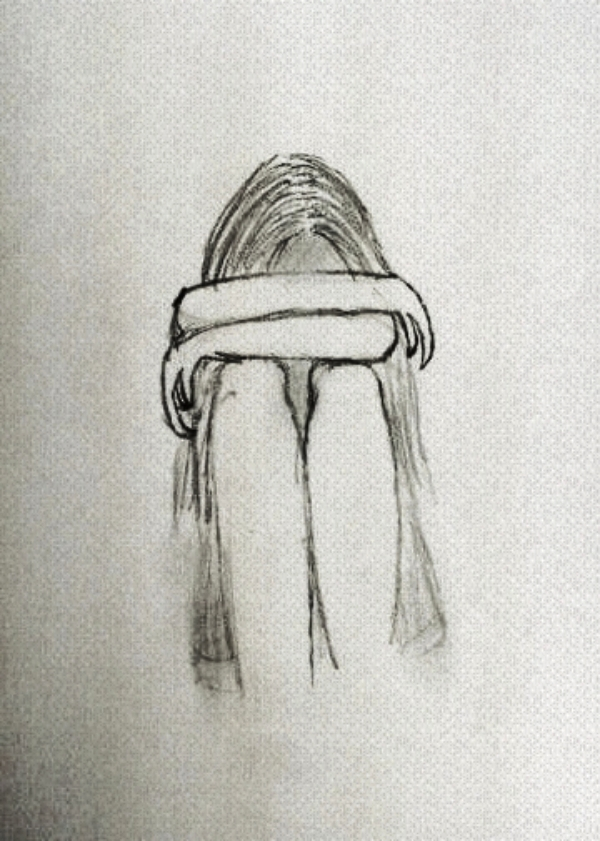 Crying Girl: Cool and Easy Things to Draw when bored