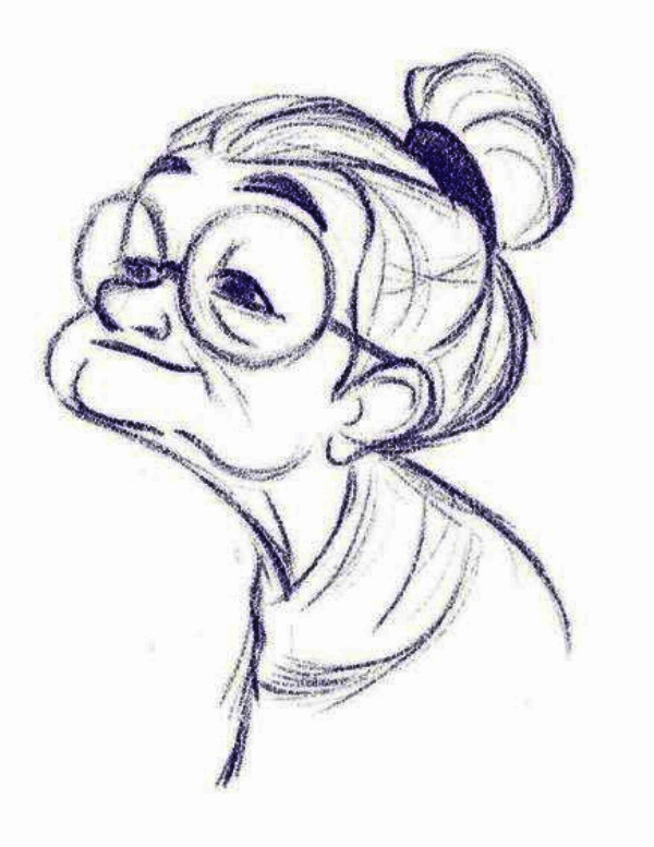 Old Woman: Cool and Easy Things to Draw when bored