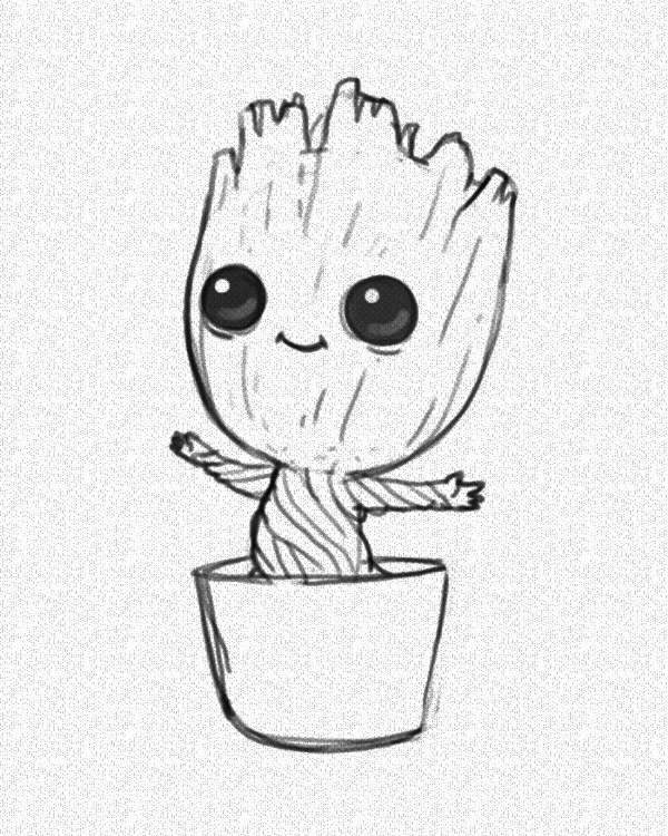 I am Groot: Cool and Easy Things to Draw when bored