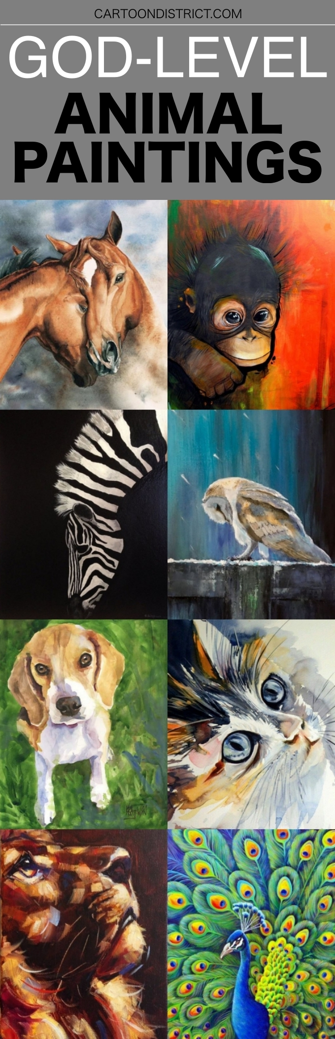 God Level Animal Paintings