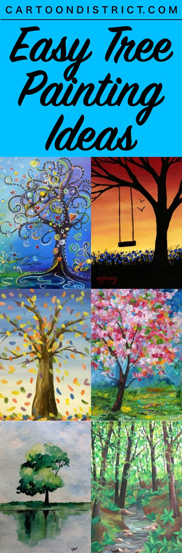 Easy Tree Painting Ideas