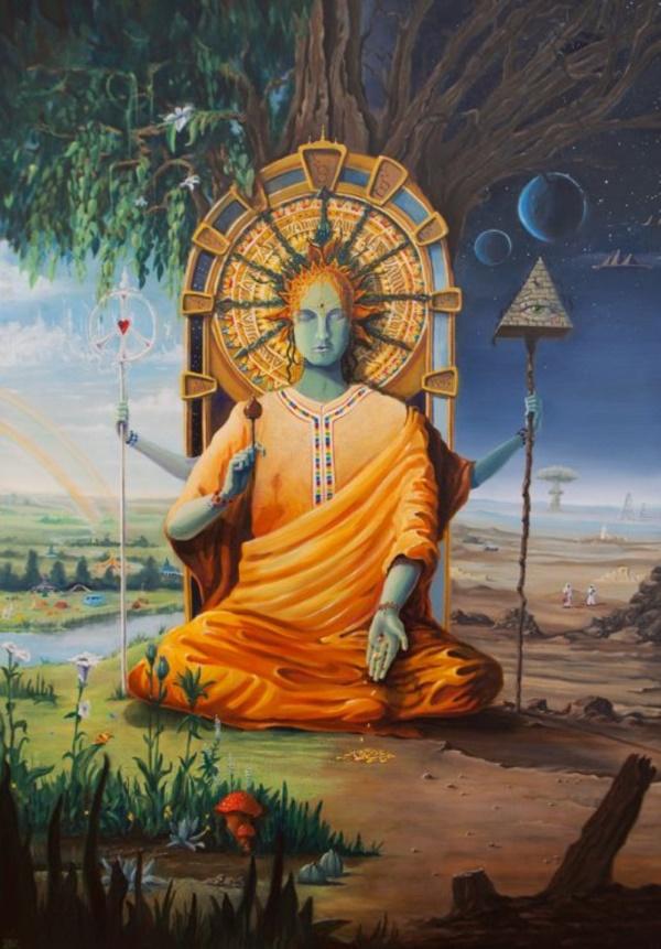 peaceful-gautam-buddha-painting-ideas