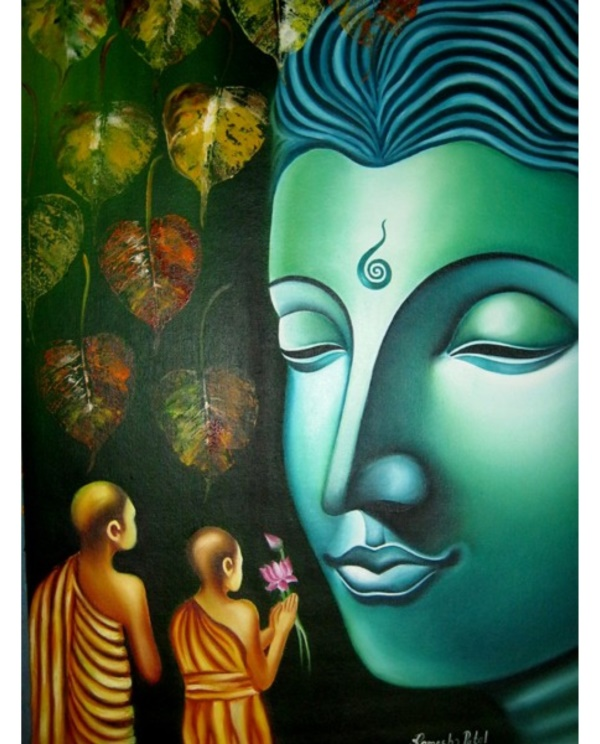 35 peaceful gautam buddha painting ideas to feel calm