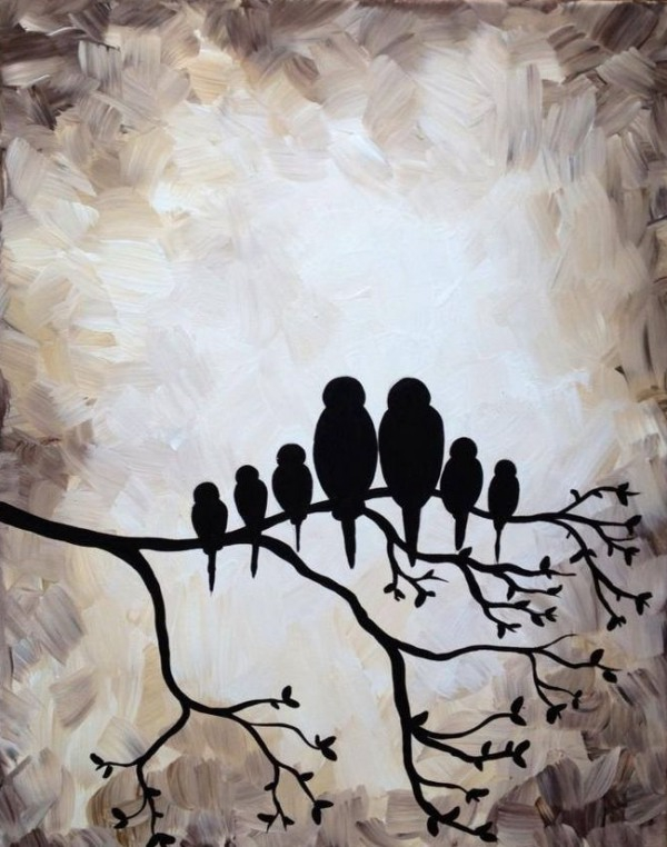 30 Creative Black And White Painting Ideas On Canvas Wcases