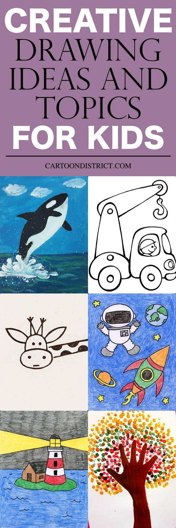 Creative Drawing Ideas and Topics for Kids
