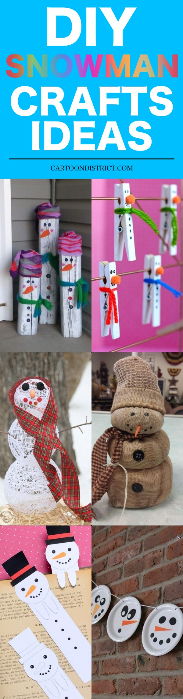 DIY Snowman Crafts Ideas