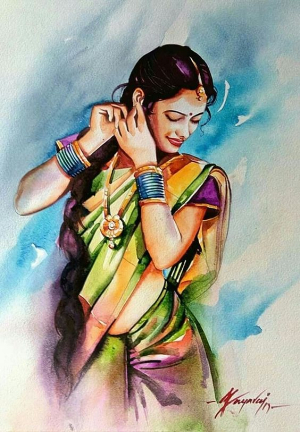Beautiful Women Painting Ideas