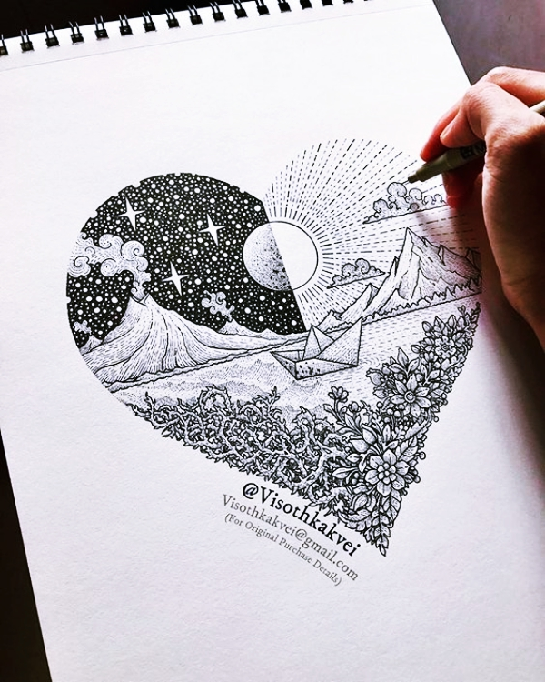 Cool-and-Simple-Drawings-Ideas-To-Kill-Time