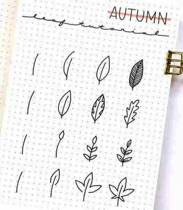 Easy Leaf Drawing tutorial