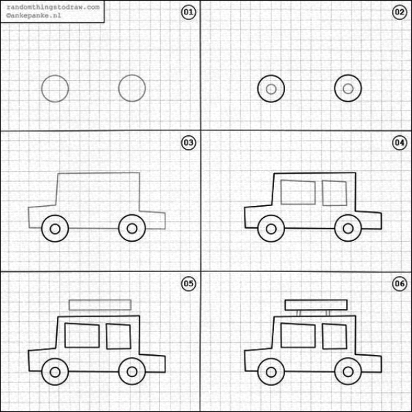 How To Draw A Cartoon Car: Step by Step Tutorial