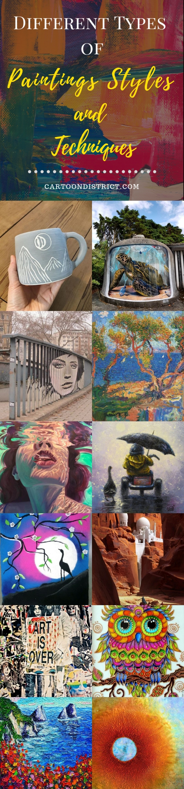 Different Types of Paintings Styles and Techniques