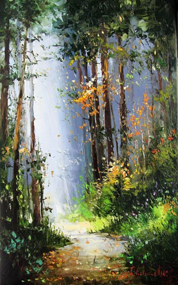 38 Easy Acrylic Landscape Painting Ideas For Beginners Cartoon District