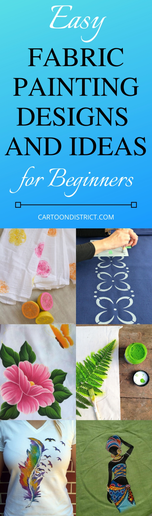 Easy Fabric Painting Designs and Ideas for Beginners