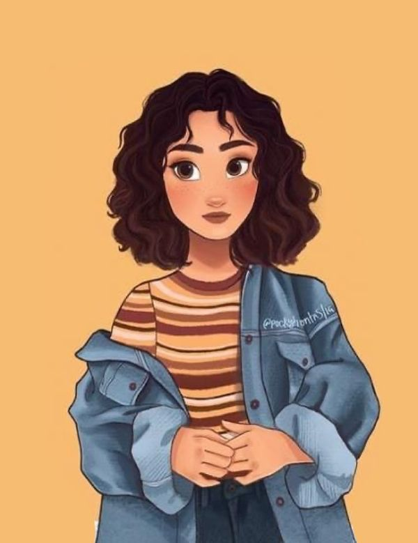 Curly Haired Girl Wallpaper
