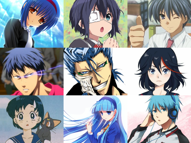 Anime Characters with Blue Hair