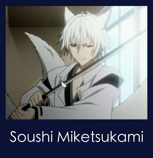 Male anime characters with white hair