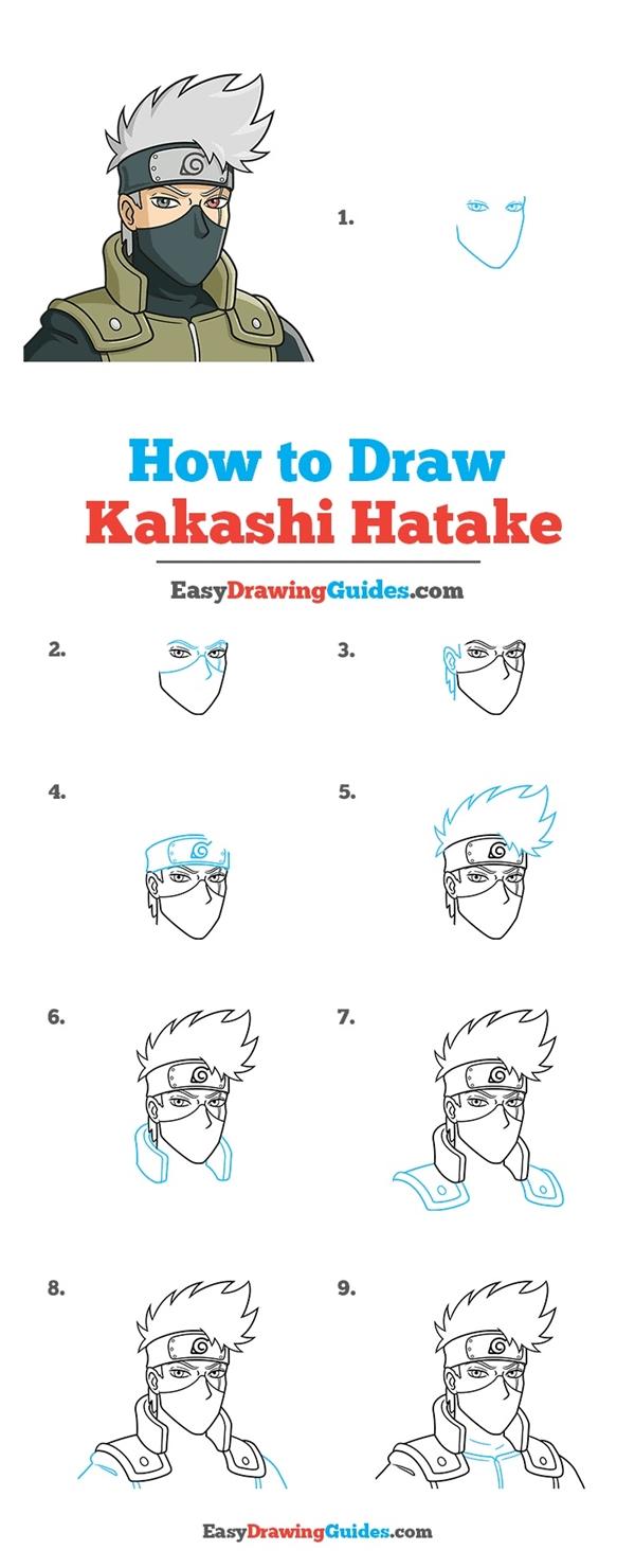 How to Draw Kakashi Hatake