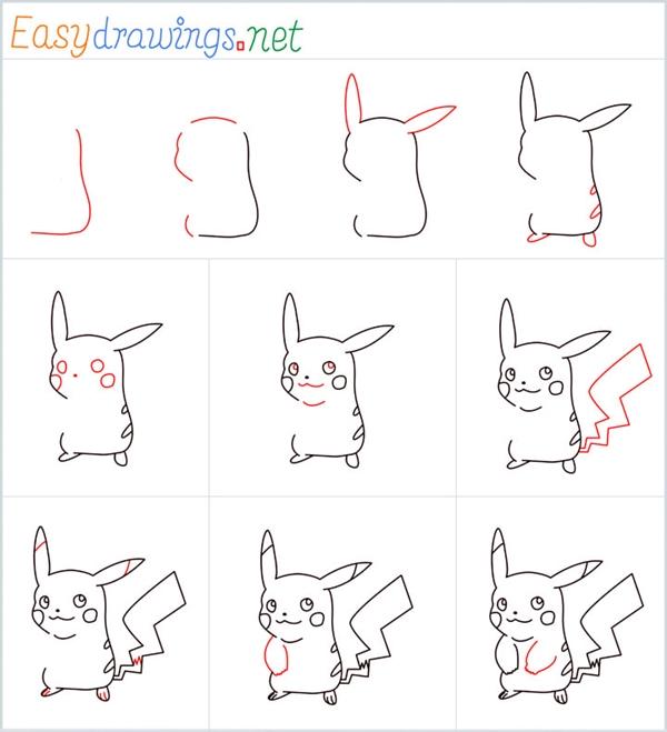 How to Draw Pokemon Pikachu Easy